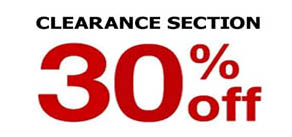 30% off Clearance