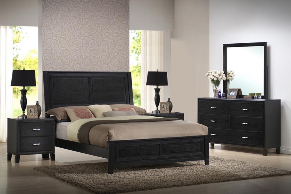 Baxton Studio Eaton King 5 Piece Wooden Modern Bedroom Set ORG $788 SALES  PRICE $709