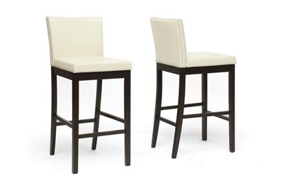 Baxton Studio Graymoor Cream Modern Bar Stool (Set of 2) ORG $176 SALE PRICE $158