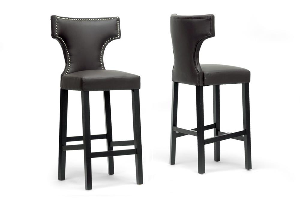 Baxton Studio Hafley Brown Modern Bar Stool (Set of 2) ORG $190 SALE PRICE $171 (Set of 2)