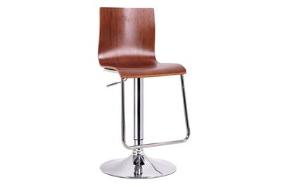 Baxton Studio Lynch Walnut and Black Modern Bar Stool ORG $77 SALE PRICE $69