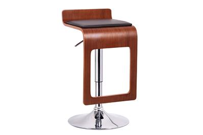 Baxton Studio Murl Walnut and Black Modern Bar Stool (Set of 2) ORG $74 SALES PRICE $67
