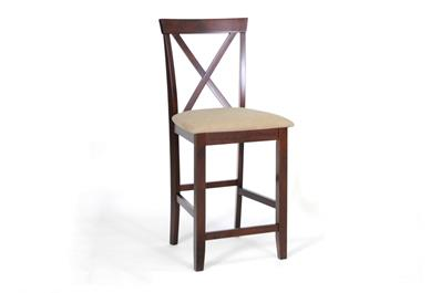 Baxton Studio Natalie Brown Wood Modern Counter Stool (Set of 2) ORG $106 SALE PRICE $95