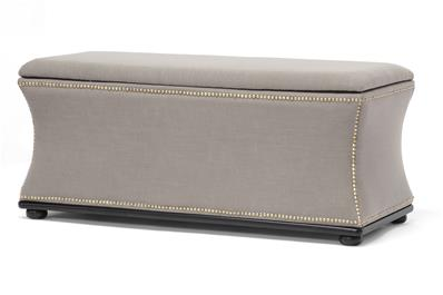 Baxton Studio Liverpool Beige Linen Modern Storage Ottoman and Bench ORG $190 SALE PRICE $171
