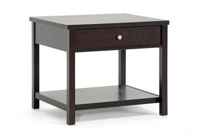 Baxton Studio Nashua Brown Modern Accent Table ORG $65 SALE PRICE $52