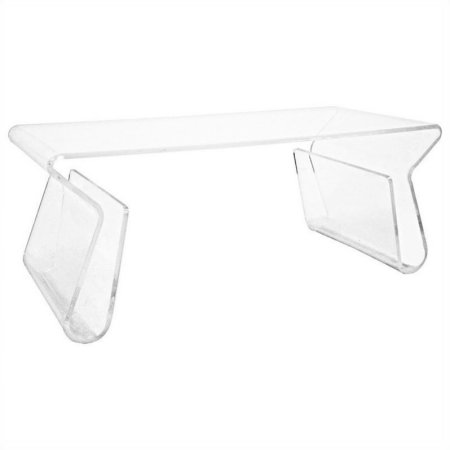 Baxton Studio Acrylic Coffee Table With Magazine Rack