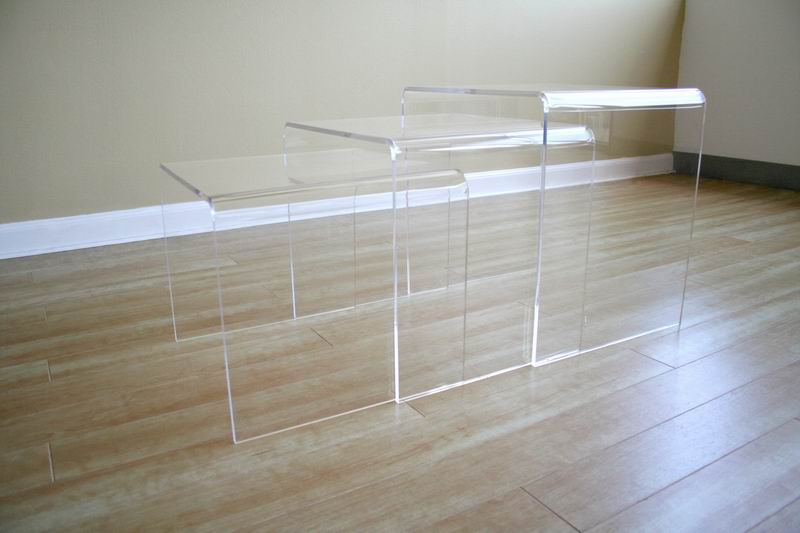 Acrylic nesting table pc set display stands