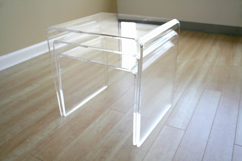 Acrylic Nesting Table Pc Table Set Display Stands Clear Or - Clear nesting tables
