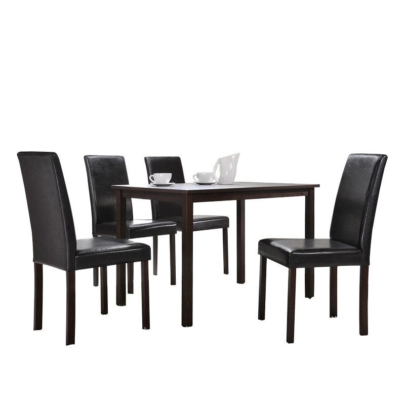 Baxton studio andrew 5 piece modern dining set for Modern dining t