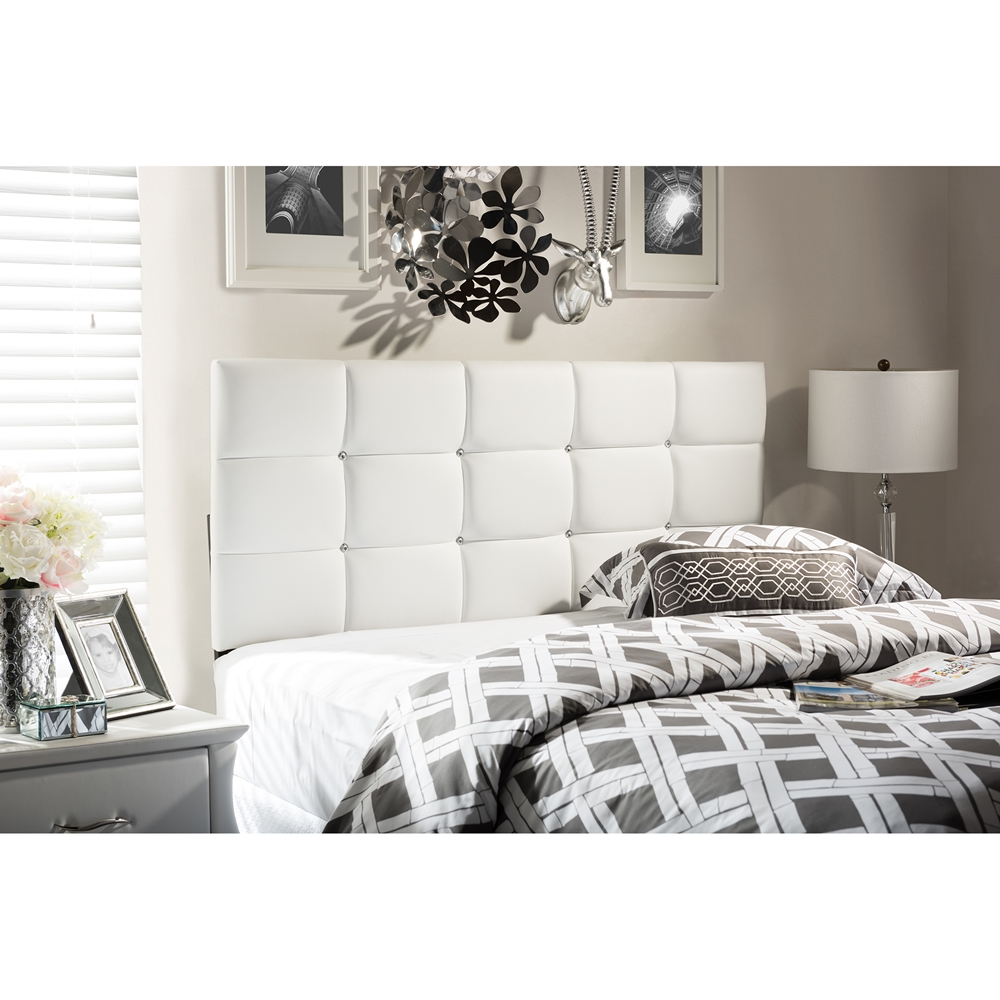Baxton Studio Bordeaux Modern And Contemporary White Faux