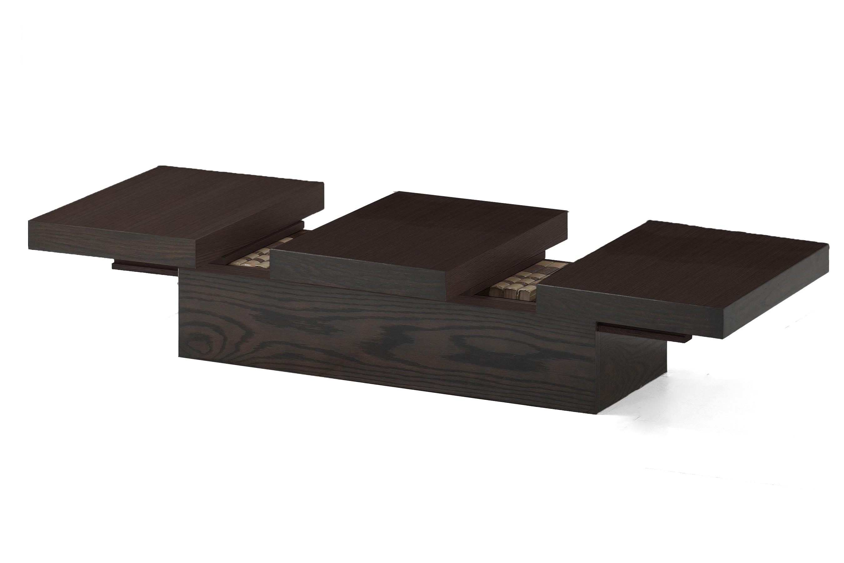 Cambridge Brown Wood Modern Coffee Table with Hidden Storage