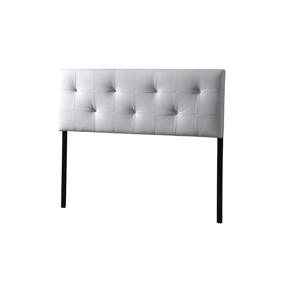 Baxton studio dalini modern and contemporary king white for Fake headboard