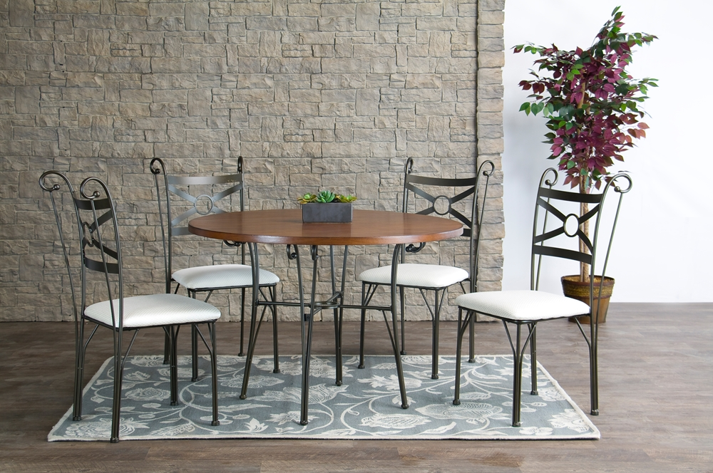 and metal 5 piece contemporary dining set bsowr d005c 5pc dining set