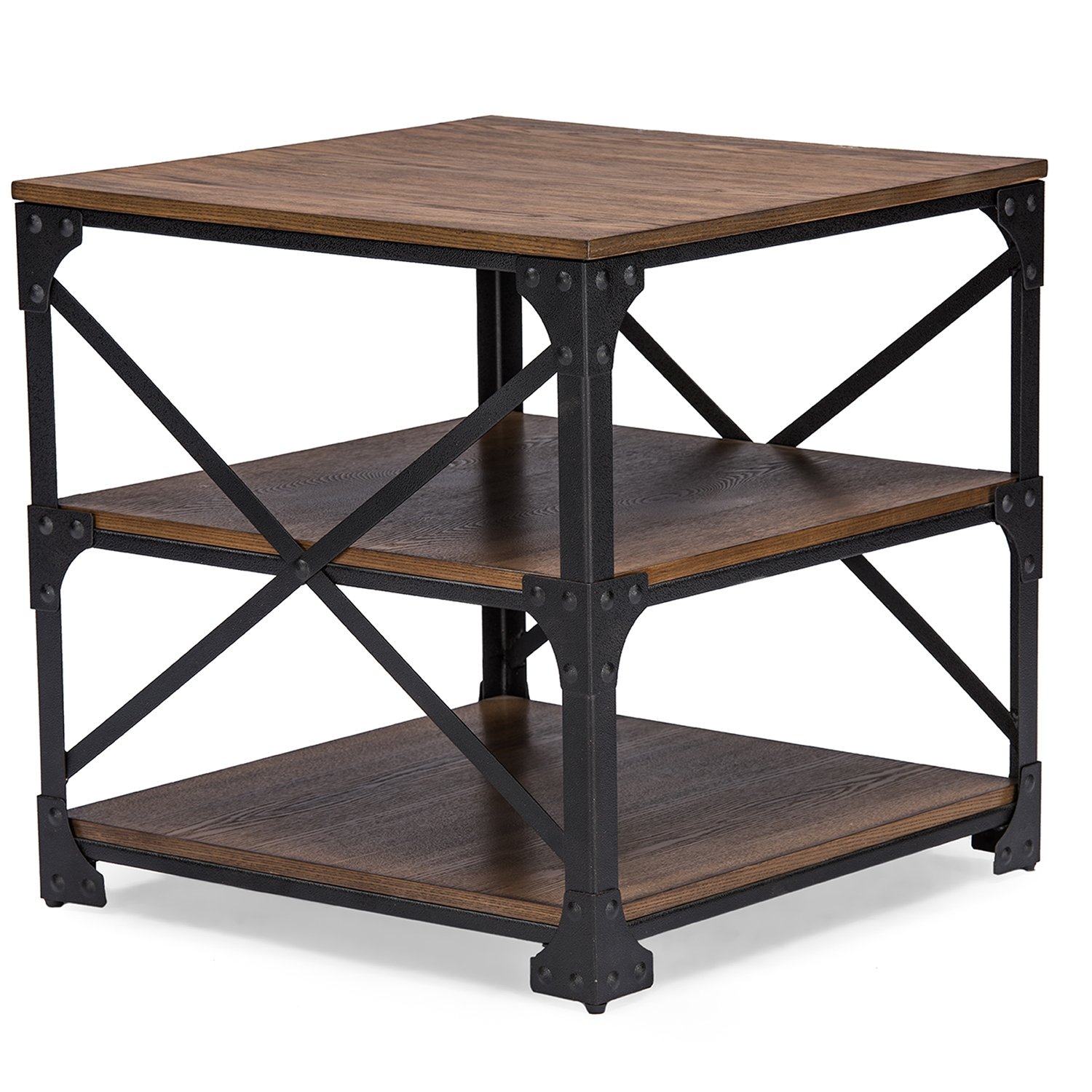 ... Baxton Studio Greyson Vintage Industrial Antique Bronze Occasional End  Table   BSOYLX 2694 ET ...
