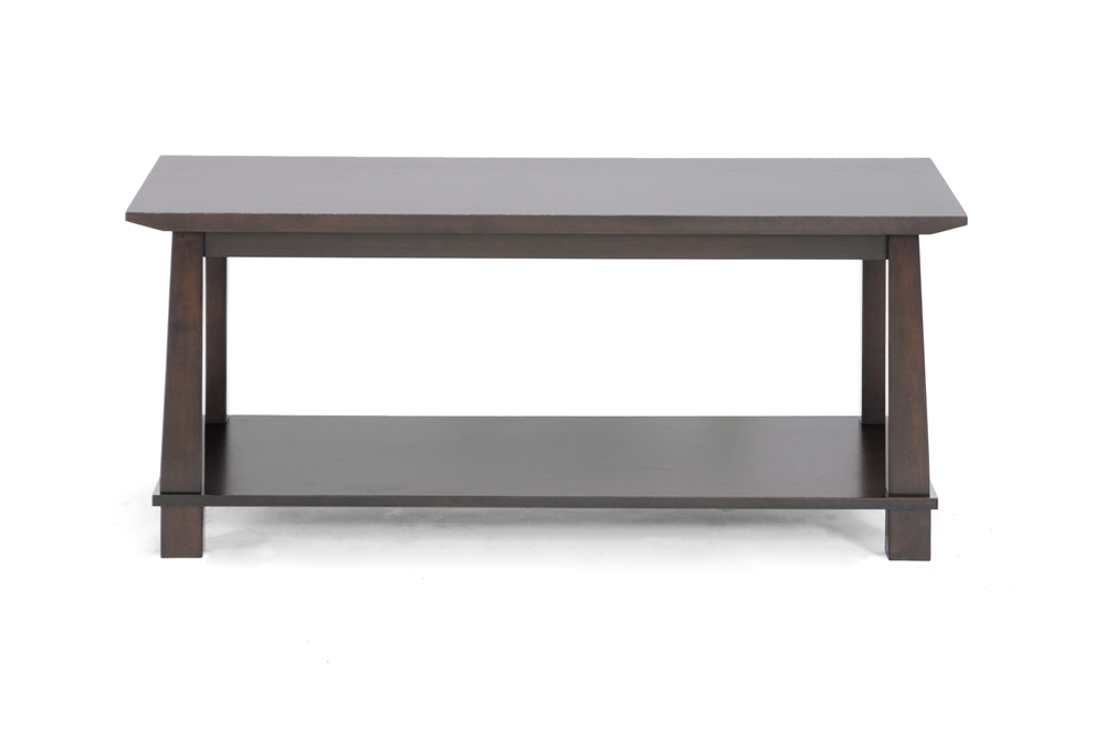 Havana brown wood modern coffee table affordable modern for Living room 50 off january
