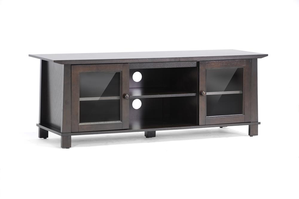 Baxton Studio Havana Brown Wood Modern TV Stand  Plasma     BSORT157F OCC. Havana Brown Wood Modern TV Stand  Plasma    Affordable Modern
