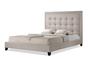 Baxton Studio Hirst Light Beige Platform Bed King Size