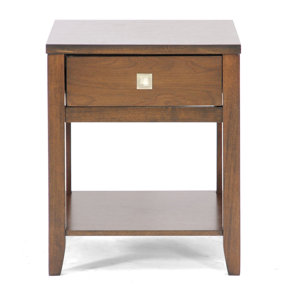 New jersey brown wood modern end table affordable modern for Cheap modern end tables