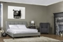 Quincy Gray Linen Platform Bed King Size Affordable