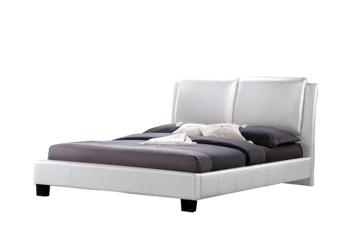 baxton studio sabrina white modern bed with overstuffed headboard queen size