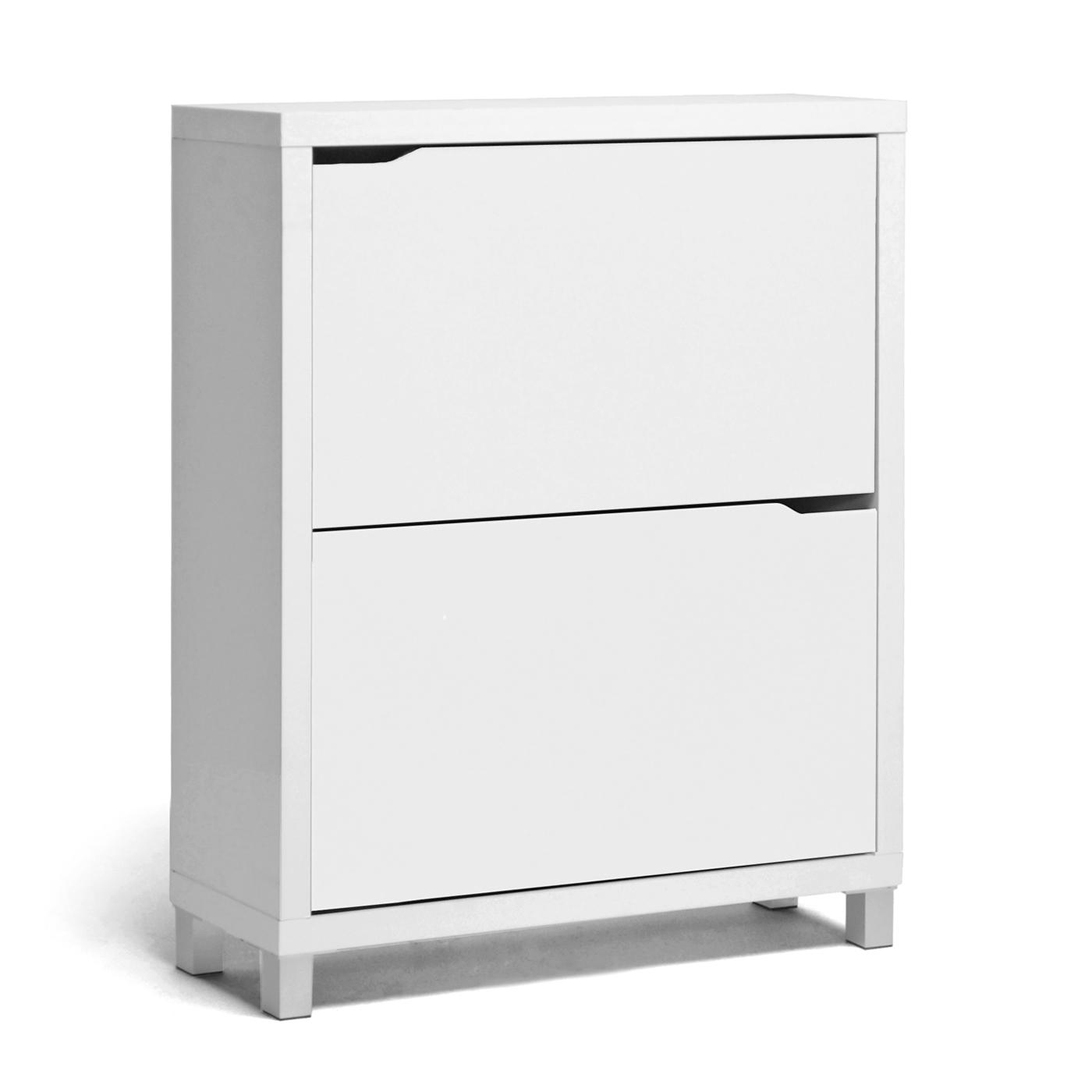 Captivating Baxton Studio Simms White Modern Shoe Cabinet