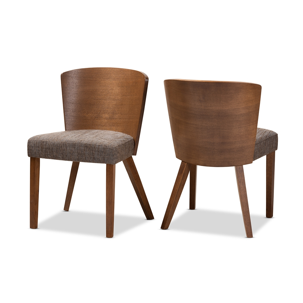 Sparrow Brown Wood Modern Dining Chair Affordable Modern