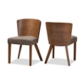 Baxton Studio Sparrow Brown Wood Modern Dining Chair (Set of 2) affordable modern furniture Chicago, Sparrow Brown Wood Modern Dining Chair,  Dining Room Furniture Chicago