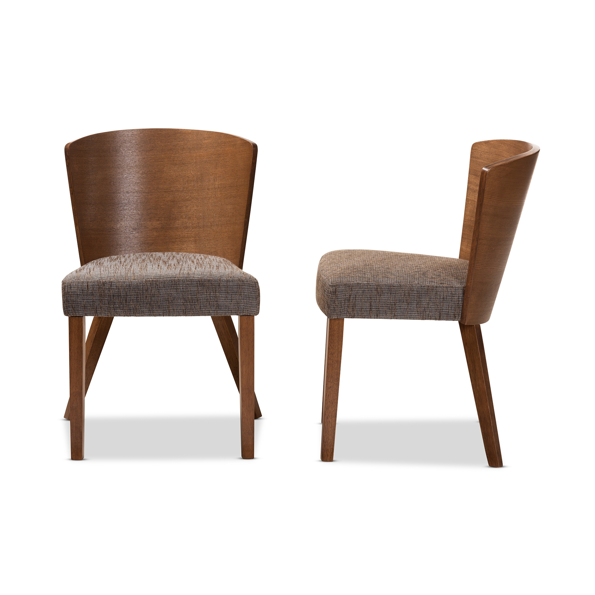 ... Baxton Studio Sparrow Brown Wood Modern Dining Chair (Set Of 2)    BSOSPARROW DINING ...