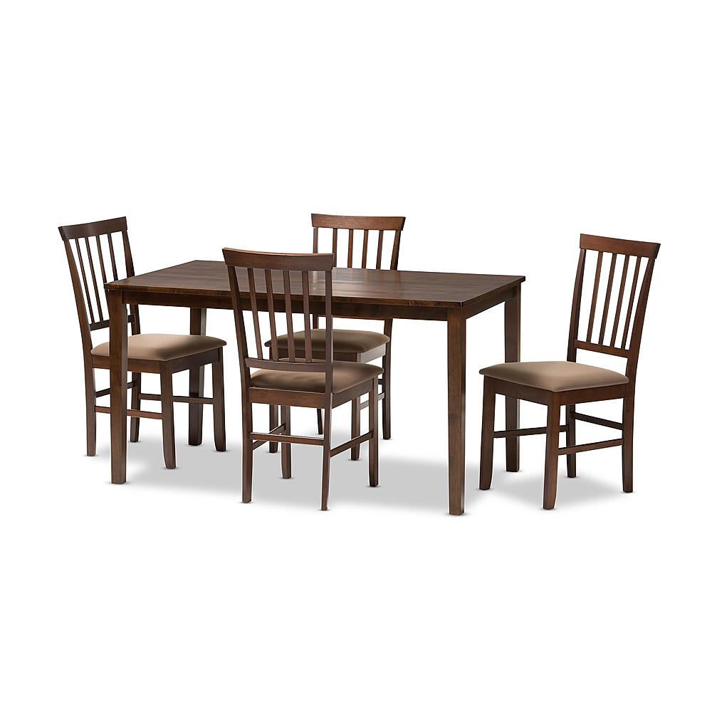 Baxton Studio Tiffany 5 Piece Modern Dining Set In Espresso Brown Wood    BSOPCH305SK (S3 ...