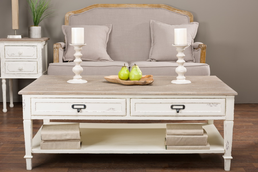 Baxton Studiodauphine Traditional French Accent Coffee Table