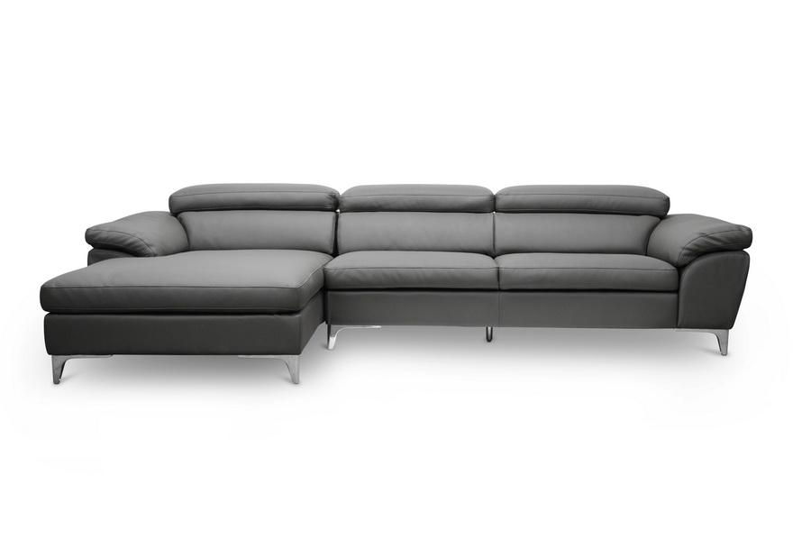 Baxton studio voight gray modern sectional sofa for Baxton studio sectional sofa grey