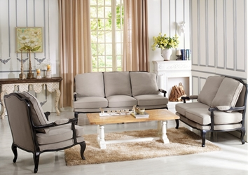 Baxton Studio Antoinette Classic Antiqued French Sofa Set Affordable Modern Furniture In Chicago