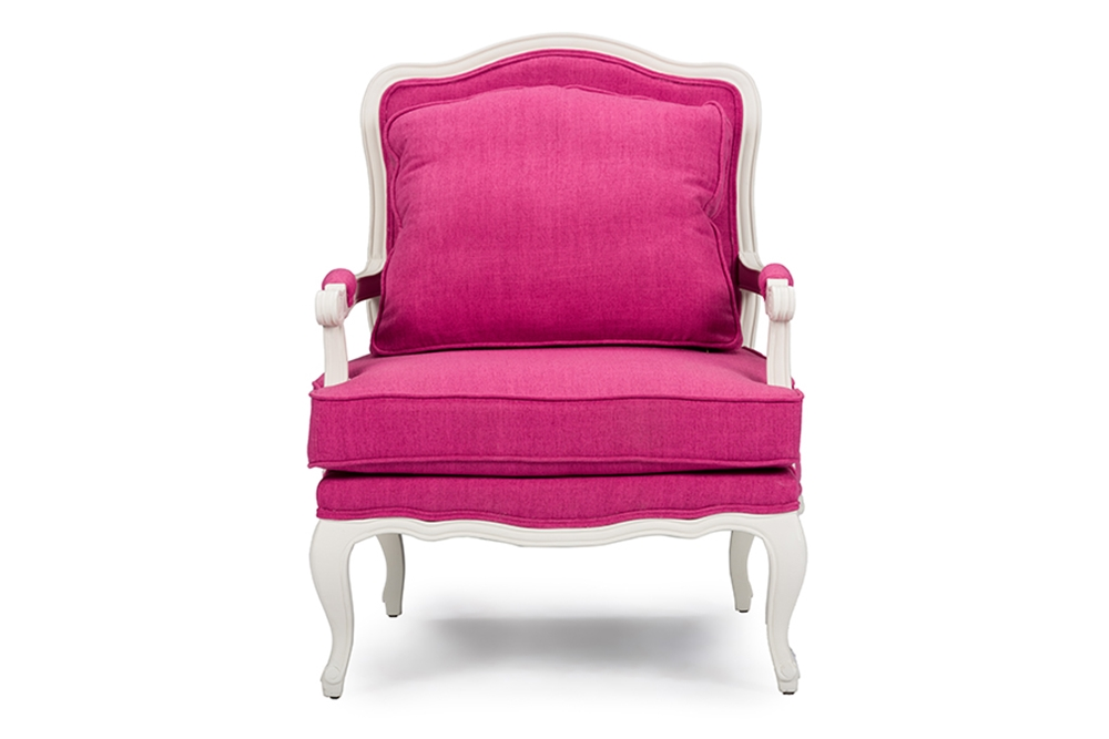 baxton studio antoinette classic antiqued pink fabric french accent chair affordable modern. Black Bedroom Furniture Sets. Home Design Ideas