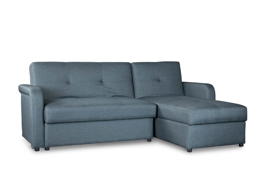 Baxton Studio Leicestershire Sectional Sofa Gray