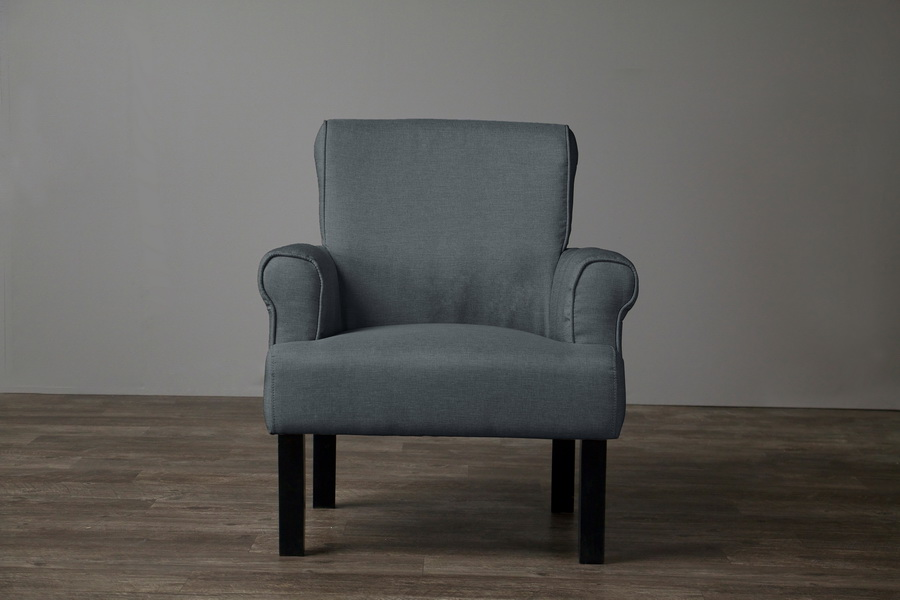 Baxton Studio Clics Collection Wing Chair Gray Bso9071 Cc