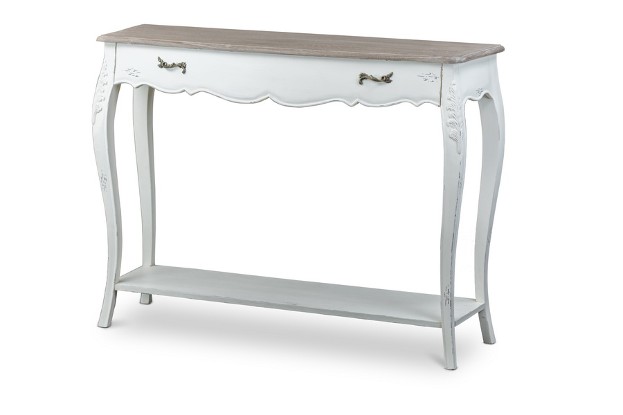 Baxton Studiobourbonnais Wood Traditional French Console Table Affordable Modern Furniture In Chicago