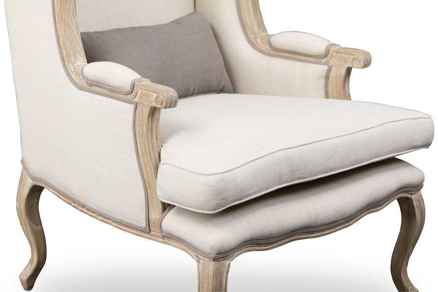 Baxton Studioauvergne Wood Traditional French Accent Chair