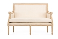 Baxton Studio Chavanon Wood & Light Beige Linen Traditional French Loveseat Affordable modern furniture in Chicago,Chavanon Wood &  Light Beige Linen Traditional French Loveseat, Living Room Furniture Chicago