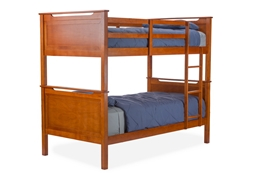 Baxton Studio Wexford Brown Wood Contemporary Twin-Size Bunk Bed Affordable modern furniture in Chicago,Wexford Brown Wood Contemporary Twin-Size Bunk Bed, Bedroom Furniture Chicago