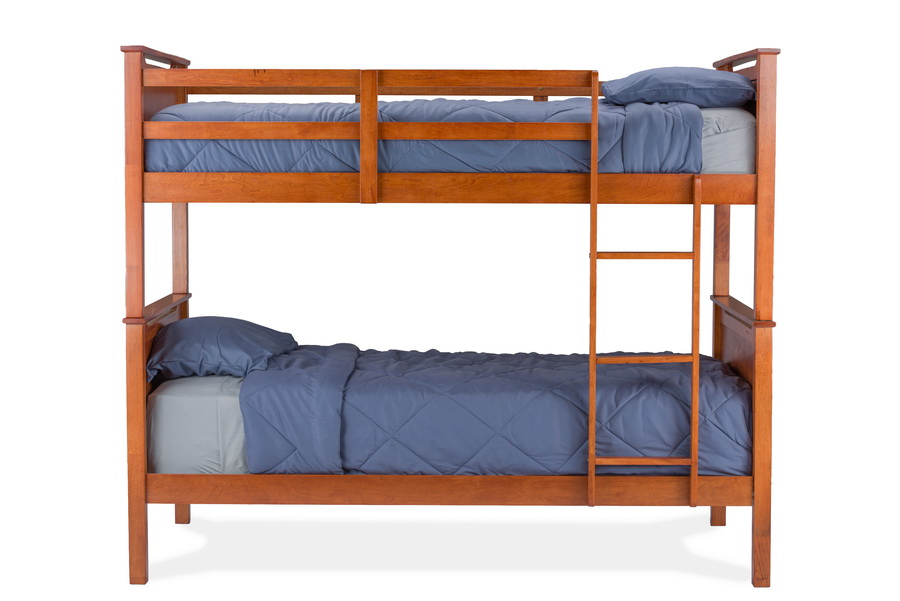 Baxton StudioWexford Brown Wood Contemporary Twin-Size Bunk Bed ...