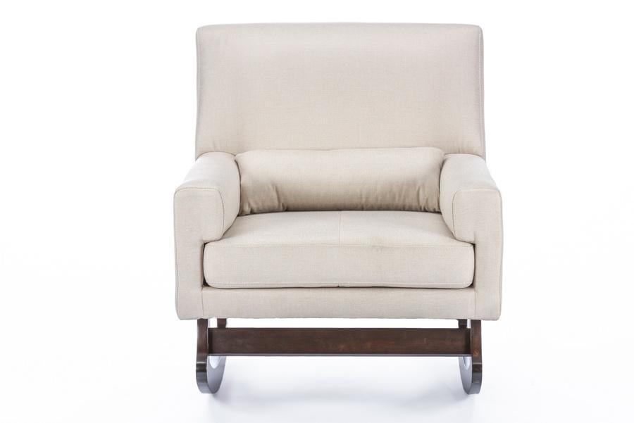 Baxton Studio Imperium Light Beige Linen Contemporary Rocking Chair With  Pillow   BSOBBT5121 Light Beige ...