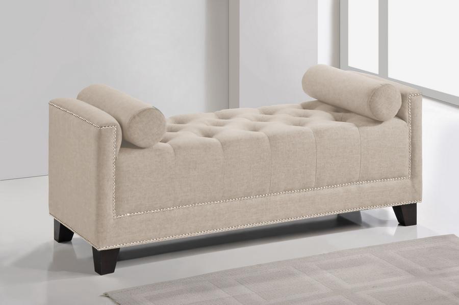 Baxton Studio Hirst Light Beige Platform Bed Queen Size