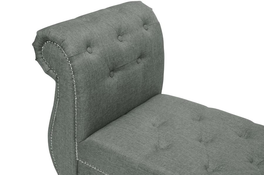 Baxton Studio Antoinette Grey Bedroom Bench | Affordable Modern ...