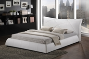 Baxton Studio Corie White Modern Platform Bed - King Size affordable modern furniture in Chicago, Corie White Modern Platform Bed - King Size, Bedroom Furniture, Chicago