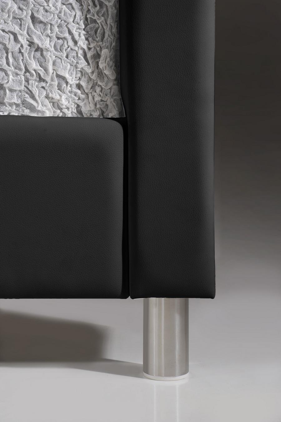 baxton studio carlotta black modern bed with upholstered headboard  -  baxton studio carlotta black modern bed with upholstered headboard queen size  bsobbtblack