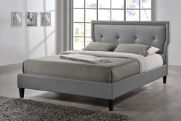 Baxton Studio Marquesa Wood Contemporary Full-Size Bed Affordable modern furniture in Chicago, Marquesa Wood Contemporary Full-Size Bed, Bedroom Furniture Chicago