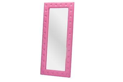 Baxton Studiostella Crystal Tufted Pink Leather Modern