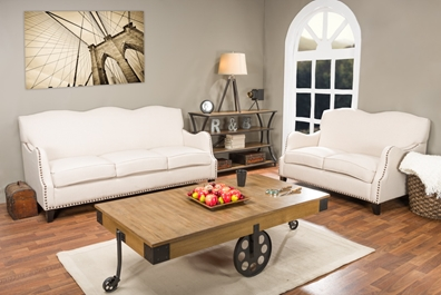Baxton StudioPenzance Beige Linen Sofa Set Affordable Modern Furniture In C
