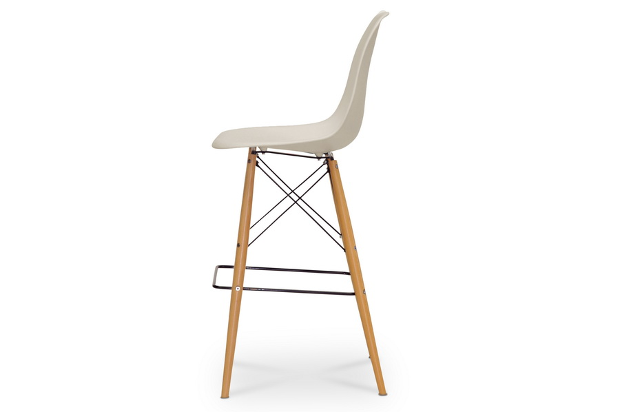 baxton studio azzo beige plastic midcentury modern shell stool bsobs231a