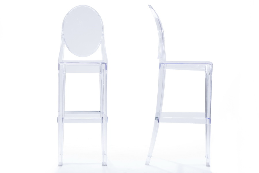 Baxton StudioInfinity Clear Plastic Contemporary Bar Stool  : BS 448A Clear1 from www.baxtonstudiooutlet.com size 900 x 601 jpeg 51kB